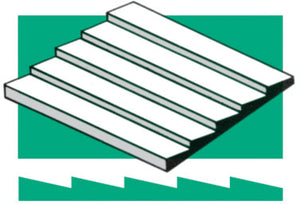 "Styrene Siding Clapboard .040x6x12"" -- .050"" Spacing"