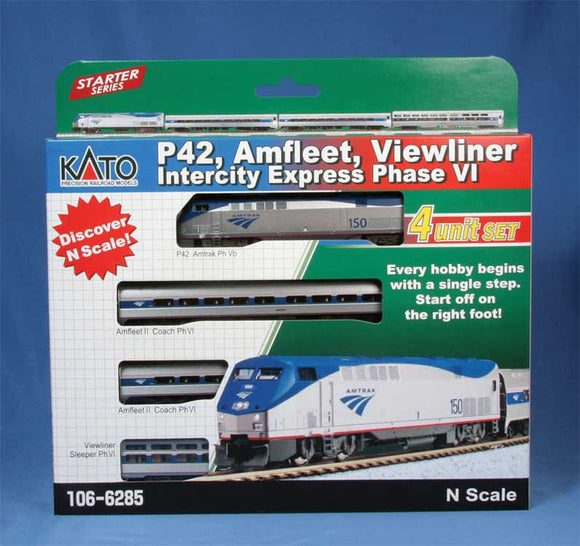 Amfleet - Viewliner Intercity Express Train-Only Set - LokSound and DCC -- Amtrak GE P42, 3 Cars