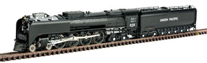 Class FEF-3 4-8-4 - Standard DC -- Union Pacific #838 (Freight Version; Flat Black, Graphite) -  Scale: N
