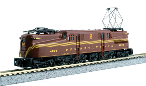 GG1 Electric - DCC -- Pennsylvania Railroad 4909 (5-Stripe, Tuscan) -  Scale: N