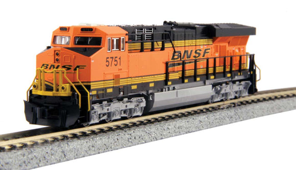 Scale: N - GE ES44AC GEVO - Standard DC -- BNSF Railway 5931 (orange, black, Wedge Logo)