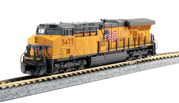 GE ES44AC GEVO - DCC -- Union Pacific 5380 (Armour Yellow, gray) -  Scale: N