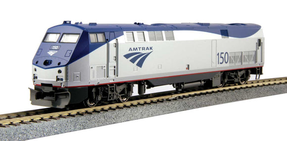 GE P42 Genesis - Standard DC -- Amtrak 203 (Phase Vb Late, silver, blue, red) -  Scale: HO