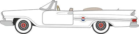 1961 Chrysler 300 Convertible - Assembled -- Top Down (Alaskan White) -  Scale: HO