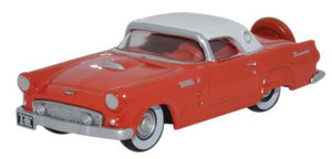 1956 Ford Thunderbird - Assembled -- Fiesta Red, Colonial White -  Scale: HO
