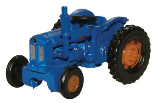 Fordson Farm Tractor - Assembled -- Blue, Red -  Scale: N