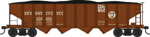 Scale: N<br/>PRR Class H21a 4-Bay Hopper - Ready to Run -- Pennsylvania Railroad 256482 (Tuscan, Circle Keystone, Coal goes to W