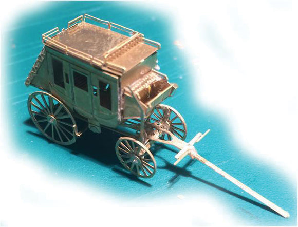 Etched-Brass Kit - Making a Scene -- Concord Coach -  Scale: N