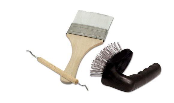 Rock Carving Tool Set -- Strata Brush, Chisel & Duster