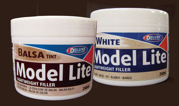 Model Lite Wood Filler -- Balsa Color 8.1oz  240ml
