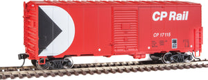 Scale: HO<br/>40' Association of American Railroads (AAR) Modernized 1948 Boxcar -- Canadian Pacific #17115 (red, white, black;