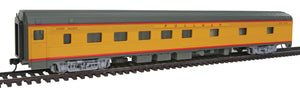 85' Budd 10-6 Sleeper - Ready to Run -- Union Pacific (Armour Yellow, gray, red) -  Scale: HO