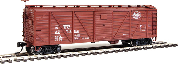 Scale: HO<br/>40' Single-Sheathed Composite ARA Boxcar with Murphy Ends - Ready To Run -- New York Central #277362 (Boxcar Red,