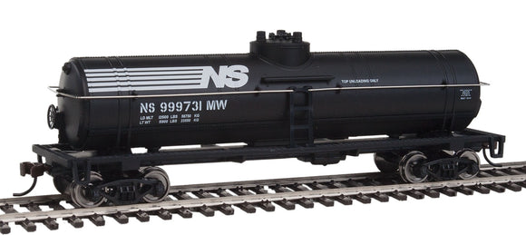Scale: HO - Tank Car - Ready to Run -- Norfolk Southern (black, white)