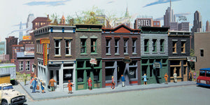 "Scale: HO - Merchant's Row I -- Kit - 11 x 5 x 4""  27.9 x 12.7 x 10.2cm"
