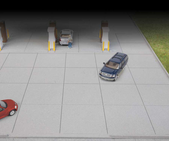 Gas Station Parking Lot -- Kit - Set of 2 sections; Each: 10-7/16 x 5-1/4