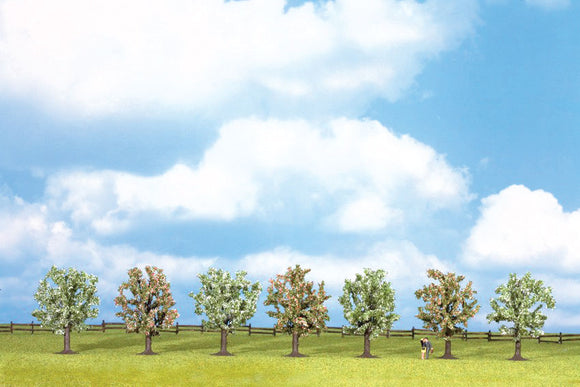 Scale: HO - Blossoming Fruit Trees pkg(7) -- 3-1/8