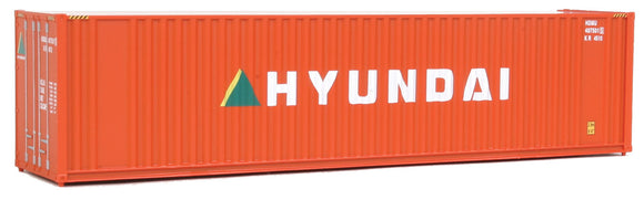 Scale: HO - 40' Hi Cube Corrugated Container w/Flat Roof - Assembled -- Hyundai