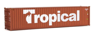 Scale: HO - 40' Hi-Cube Corrugated-Side Container - Assembled -- Tropical (brown, white)