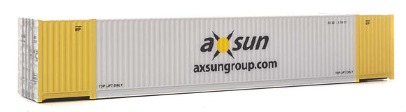 Scale: HO - 53' Singamas Corrugated-Side Container - Assembled -- Axsun (gray, yellow, black)