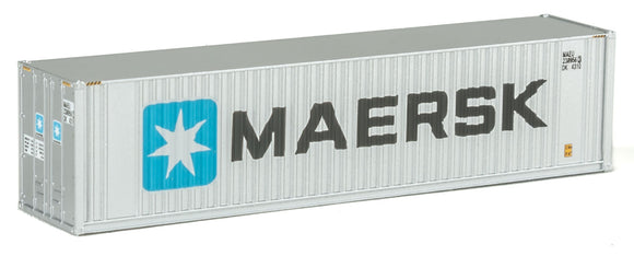 40' Hi Cube Ribbed Side Container - Assembled -- Maersk -  Scale: N