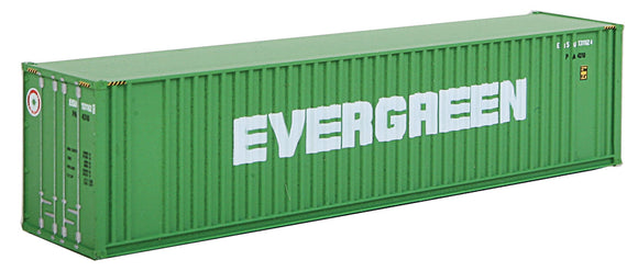 Scale: N - 40' Hi Cube Ribbed Side Container - Assembled -- Evergreen