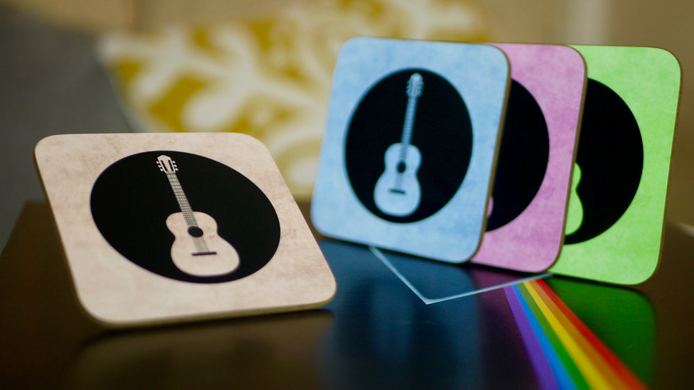 Guitar, Music Gift, Coasters, Drinks Coasters, Housewarming Gift