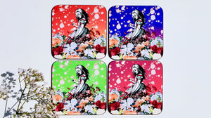 Alice in Wonderland Multicoloured Coasters