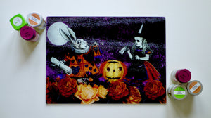 Alice in Wonderland Halloween 40cm x 30cm Worktop Saver / Serving Platter
