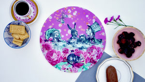 Alice in Wonderland Pink Chopping board