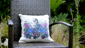 Load image into Gallery viewer, Alice in Wonderland Purple - Canvas Feel Cushion inc. Inner 45cm x 45cm