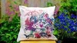 Alice in Wonderland Rabbit Cushion - Canvas Feel Cushion inc. Inner 40cm x 40cm - Kitsch Republic