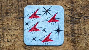 Aromic Blue Mid Century Retro Coaster - Kitsch Republic