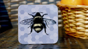 Grey Bee Coaster - Bee Collection - Kitsch Republic