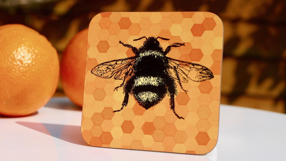 Yellow Bee Coaster - Bee Collection - Kitsch Republic