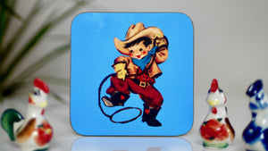 Cowboy Rodeo Coaster - Blue