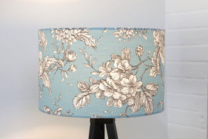 Duck Egg Blue Floral Lampshade