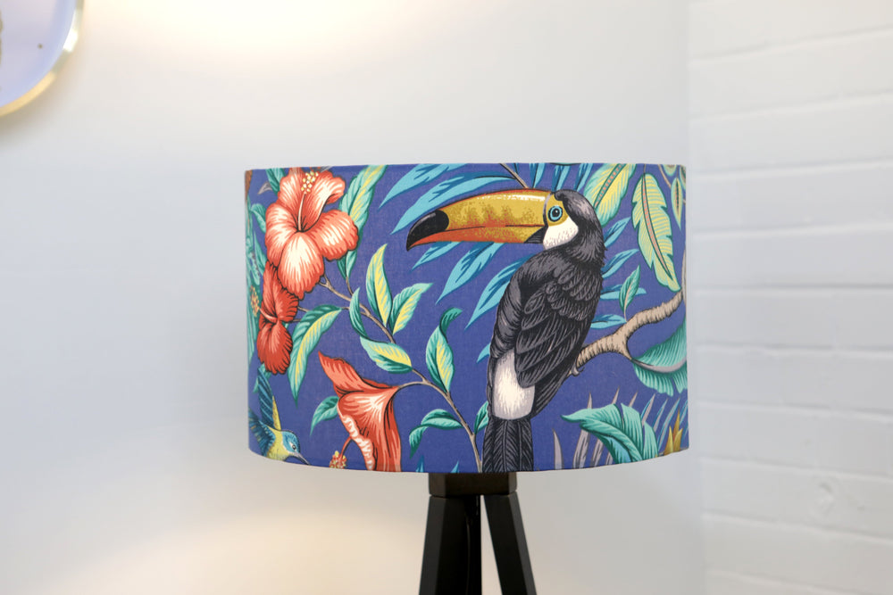 Blue Tropical Lampshade