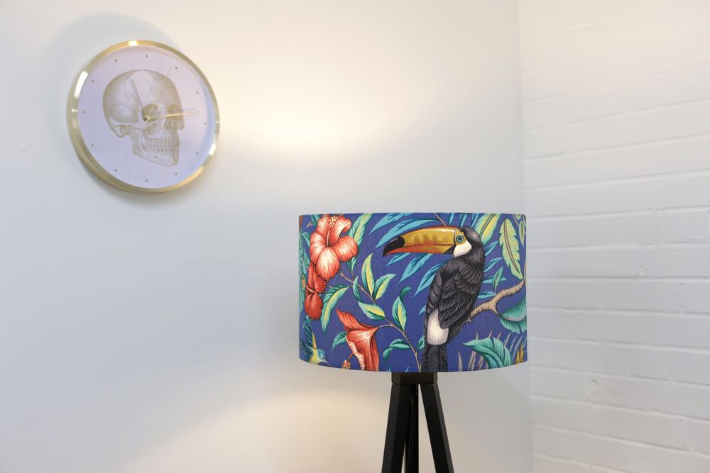 Blue Jungle Lampshade