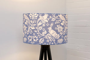 Blue Floral Hare / Rabbit Country Lampshade