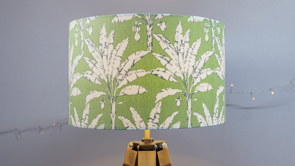 Green Tropical Plantation Leaves Handmade Lampshade - Kitsch Republic