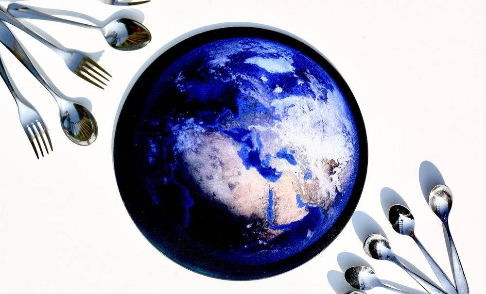 World from Space Worktop Saver - Chopping Board - Placemat - Kitsch Republic