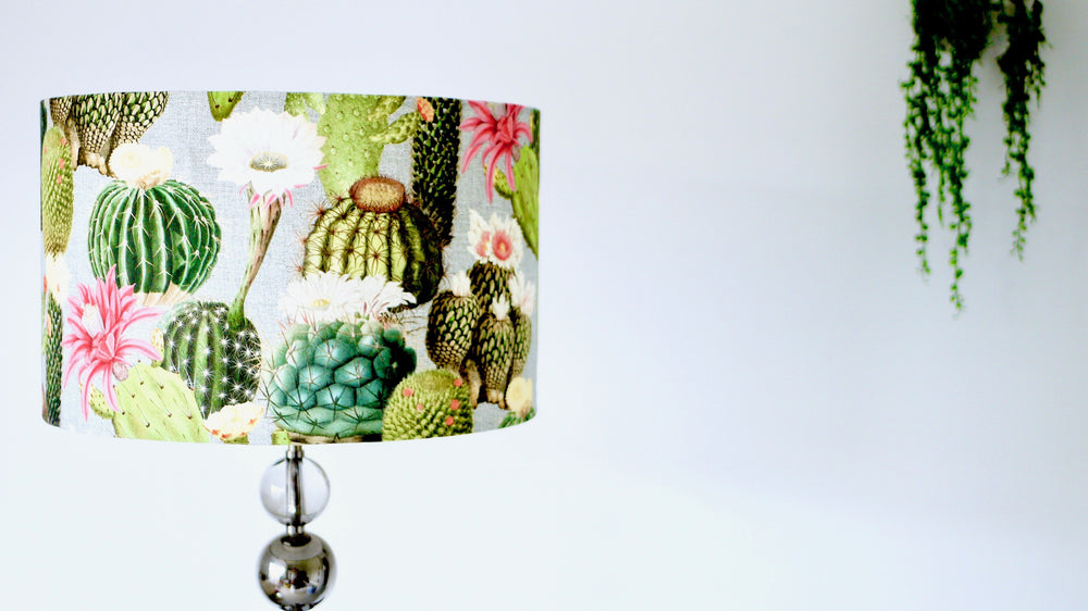Cactus Grey Handmade Lampshade - Kitsch Republic