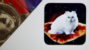 Pizza Cat in Space Cat Coaster - Kitsch Republic