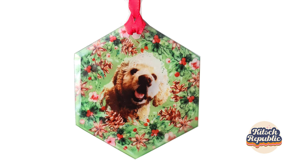 Personalised Pet Glass Christmas Decoration
