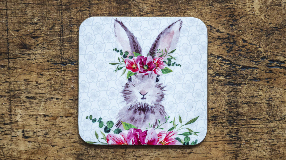Rabbit Flower Crown Coaster - Kitsch Republic