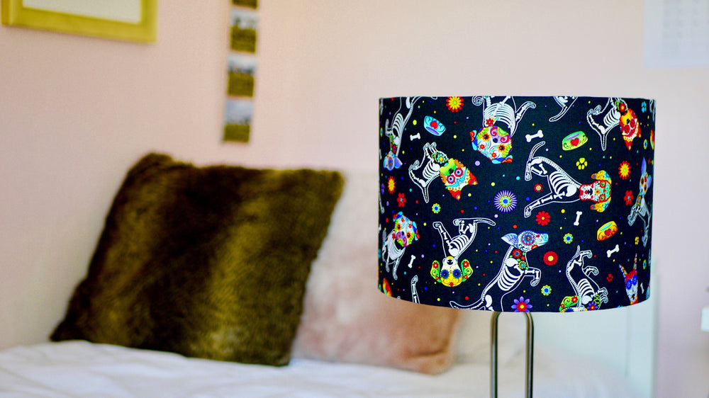 Day of the Dead Dog Lampshade - Kitsch Republic