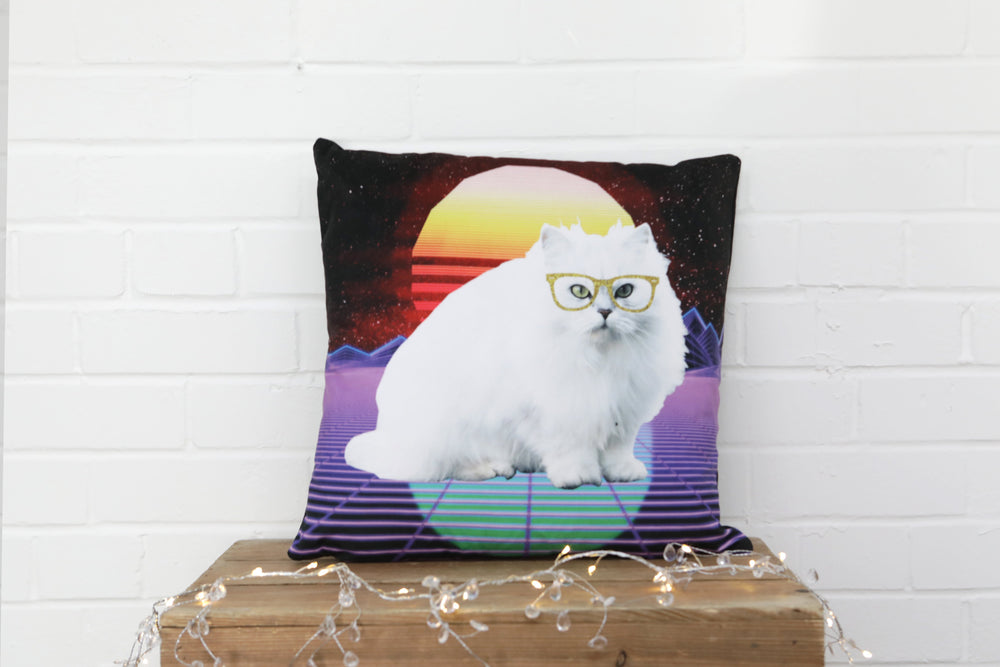 Load image into Gallery viewer, Disco Cat Velvet Cushion