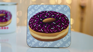 Doughnut Carbs Coaster - Fast Food Collection