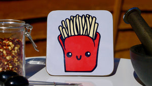 Copy of French Fries Carbs Coaster - Fast Food Collection - Kitsch Republic